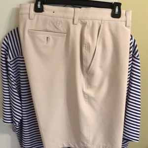 Foot joy golf shorts light tan